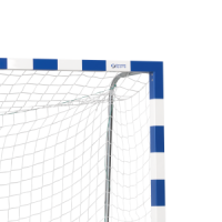 Goal net 300x200 cm, 10x10 cm, ø 2.2 mm, white, with band