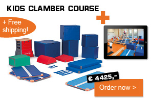 Kids clamber course