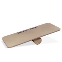 Wooden balancing board with roll
