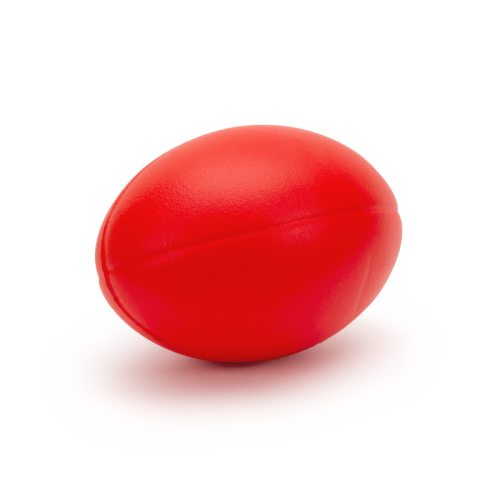 Rugby Ball Pu Foam With Skin Red