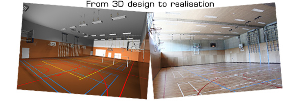 Sports halls installation renovation - Janssen-Fritsen